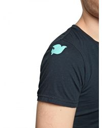 FREE CITY | Blue Bird Printed Jersey T-shirt for Men | Lyst