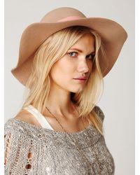 Free People - Pink Jane Wide Brim Hat - Lyst