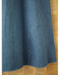 Free People - Blue Vintage Denim Skirt - Lyst