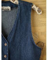Free People | Blue Vintage Denim Vest | Lyst