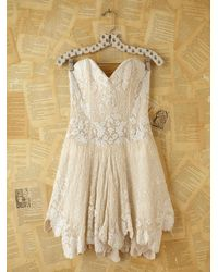Free People | White Vintage Custom Beaded Dress | Lyst
