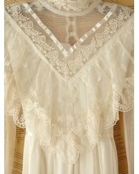 Free People - White Vintage Gunne Sax Lace Dress - Lyst