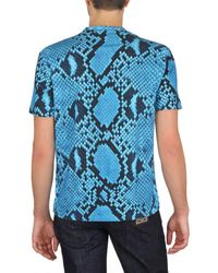 Jil Sander | Blue Python Printed Jersey T-shirt for Men | Lyst