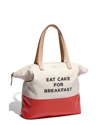Kate Spade | Beige Call To Action - Terry Tote | Lyst