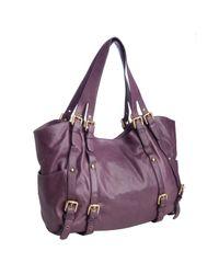 Kooba - Purple Eggplant Hand Crafted Leather Paige Shoulder Bag - Lyst