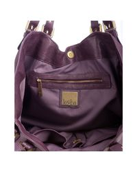 Kooba | Purple Eggplant Hand Crafted Leather Paige Shoulder Bag | Lyst