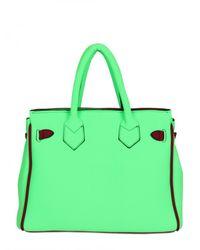Leghilà - Green B-bag Small Neoprene Top Handle - Lyst
