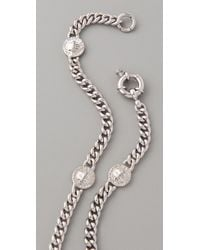 Marc By Marc Jacobs - Metallic Turnlock Lock Link Necklace - Lyst