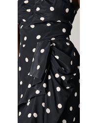 Marc By Marc Jacobs - Black Hot Polka Dot Gathered Waist Silk Dress - Lyst