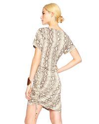 Michael Kors - Gray Snake-print Shift Dress - Lyst
