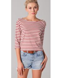 M.i.h Jeans | Red Mih Striped Breton Tee | Lyst