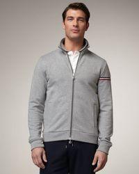 Moncler - Gray Hooded Bold-flag Track Jacket for Men - Lyst
