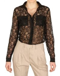 MSGM | Black Lace Shirt | Lyst