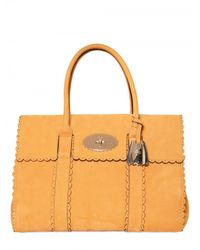 Mulberry | Orange Cookie Bayswater Smooth Leather Top Hand | Lyst