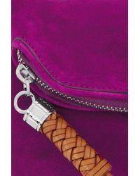 Ralph Lauren Collection | Purple Tasseled Suede Clutch | Lyst