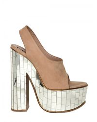 Rochas | Natural 150mm Nubuck Mirror Sandals | Lyst