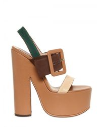 Rochas | Multicolor 150mm Canvas & Leather Buckle Sandals | Lyst