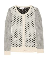 Sonia by Sonia Rykiel | Natural Polka-dot Knitted Cotton Cardigan | Lyst
