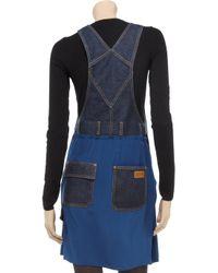 Sonia by Sonia Rykiel - Blue Denim and Silk Dungaree Dress - Lyst