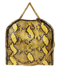 Stella McCartney | Yellow Snakeskine Chain Tote | Lyst