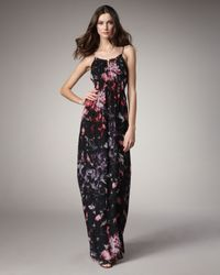 Theory | Black Exploded Flowers Maxi Dress | Lyst