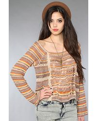 Free People - Brown The Phoenix Pullover Sweater in Spice Combo - Lyst