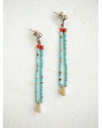 Free People | Blue Vintage Heishi Bead Earrings | Lyst