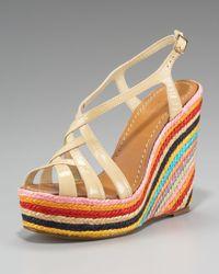 kate spade new york | Multicolor Lindsay Striped Espadrille | Lyst