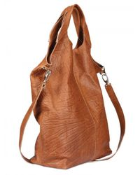Diverso Italiano | Brown Raffaella Leather Top Handle | Lyst