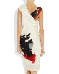 Donna Karan | Natural Artist Draped Stretch-jersey Dress | Lyst