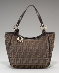 Fendi | Brown Zucca Canvas Shoulder Bag | Lyst