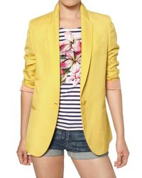 Stella McCartney | Yellow Dry Slub Viscose Twill Jacket | Lyst