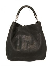 Saint Laurent - Black Roady Large Hobo Leather Shoulder Bag - Lyst