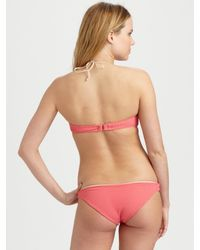Cali Dreaming | Pink Two-piece Twist-front Bandeau Bikini | Lyst