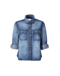 Current/Elliott | Blue The Scout Denim Top | Lyst