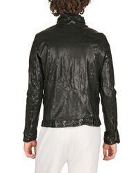 Giorgio Brato - Black Washed Nappa Biker Leather Jacket for Men - Lyst