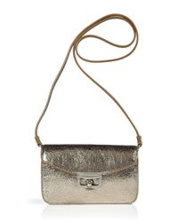 Marc By Marc Jacobs - White Gold Metallic Clutch - Lyst