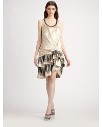 Marc Jacobs | Natural Silk Satin Dress | Lyst