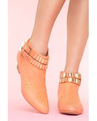 Nasty Gal | Orange Benatar Stud Boot | Lyst
