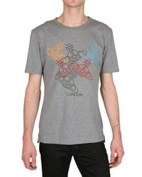 Vivienne Westwood | Gray Grey Olympic Orb T-shirt for Men | Lyst