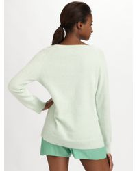 Acne | Green Ry Angora Knit Sweater | Lyst