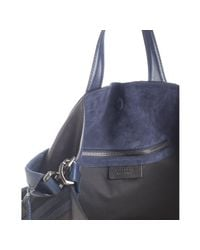 Givenchy | Black and Navy Colorblock Calfskin Nightingale Shoulder Tote | Lyst