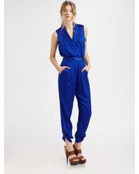 Rachel Zoe | Blue Edith Shawl Collar Jumpsuit | Lyst