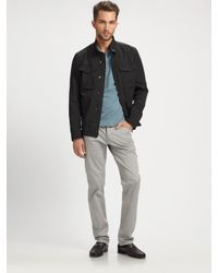 Theory | Black Yost Fuel Twill Jacket for Men | Lyst