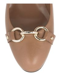Bally | Brown Basail Leather Pumps | Lyst