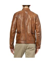Belstaff   Brown Brad Perforated Leather Jacket for Men   Lyst