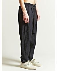 Damir Doma - Black Mens Paam Drawstring Drop Crotch Trousers for Men - Lyst