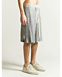 Damir Doma - Gray Mens Paama Front Overlap Shorts for Men - Lyst
