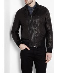 Dolce & Gabbana | Black Double Zip Front Leather Jacket for Men | Lyst