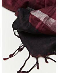 Dries Van Noten - Purple Mens Sheer Silk Artisan Scarf With Tassels for Men - Lyst